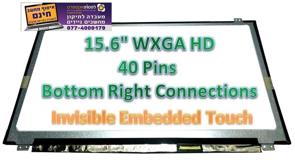 מסך מגע להחלפה במחשב נייד HD LCD LED Touch Screen Display New N156BGN-E43 REV.B1