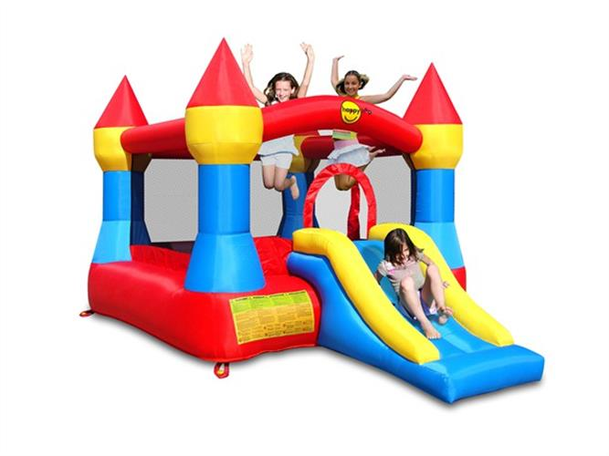 מתקן קפיצה הטירה עם מגלשה - 9017 - Castle Bouncer With Slide Happy Hop