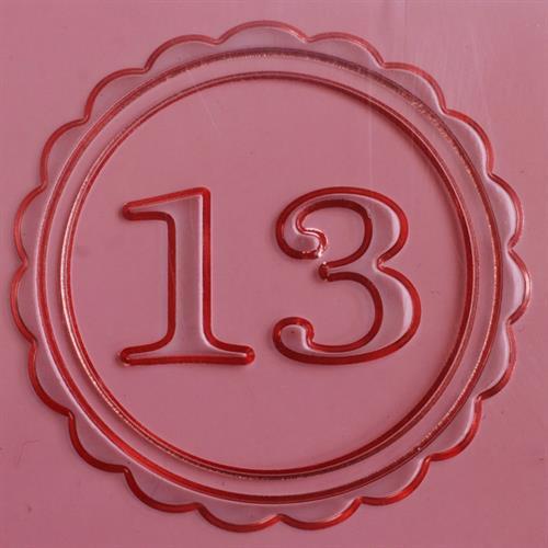 חותמת 13 - מסגרת - לבצק סוכר