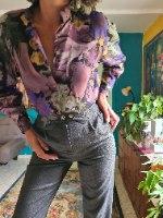 מכנסי צמר אפורים מחוייטים