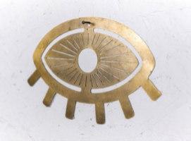 עין טובה ממתכת - זהב