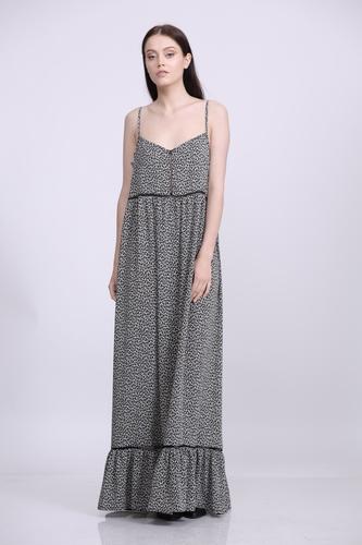 שמלת דולי מקסי מנומרת