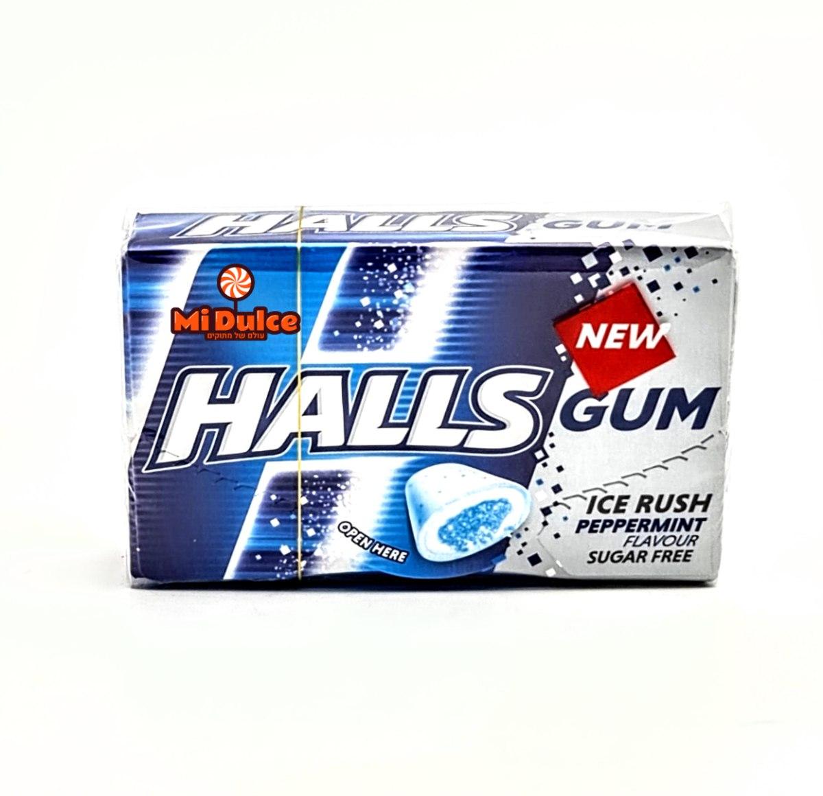 Halls Gum בטעם מנטה חריפה