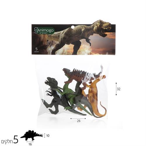 Animogo דינוזאורים 5 יח'