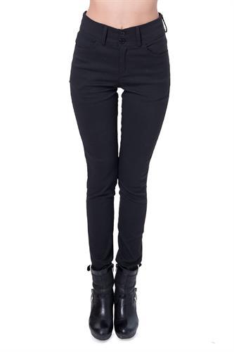 מכנס גבוה עם 2 כפתורים בצבע שחור
