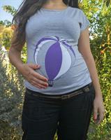 חולצת הריון כדור פורח בצבע אפור