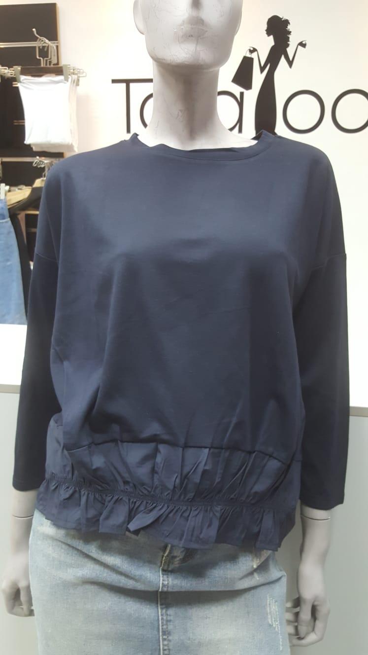 חולצת כיווצים כחול נייבי