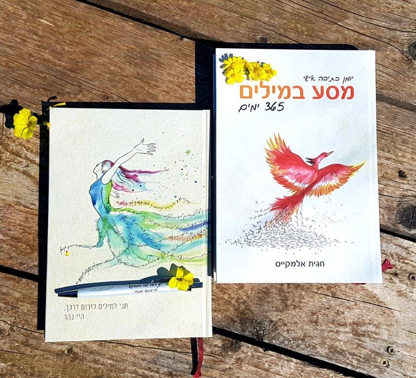 חבילת מסע במילים: מדריך כתיבה ומחברת השראה