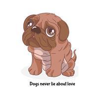 חולצת טי - Dogs Never Lie About Love