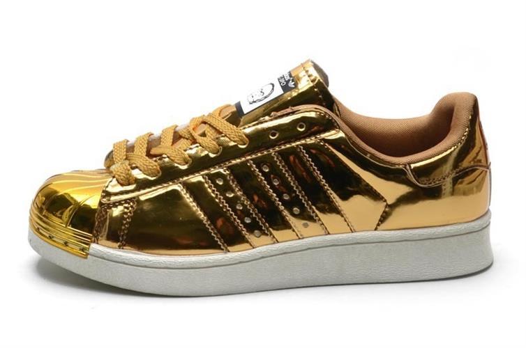 נעלי adidas superstar 80s bling metal toe יוניסקס מעוצבות מידות 36-44 gold