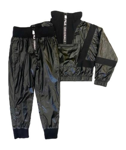 FILA חליפת ניילון שחורה מידות 6-16