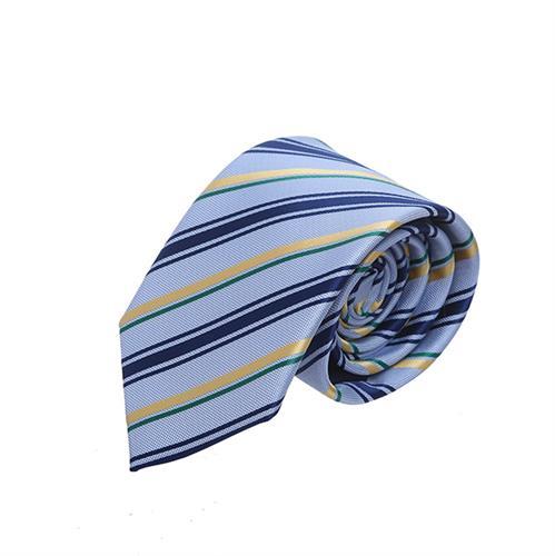עניבה פסים תכלת משולב