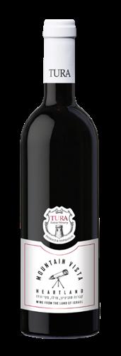 יין אדום יבש הרטלנד יקב טורא 2017 - בקבוק 750 מ''ל