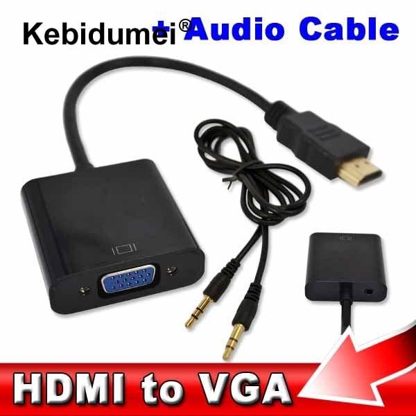 מתאם HDMI to VGA + סאונד-49 שקלים בלבד כולל משלוח