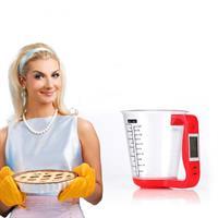 משקל דיגיטלי למטבח משולב בכוס מדידה
