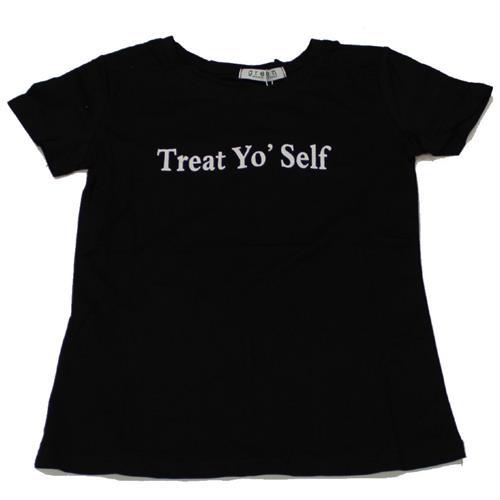 חולצה נשים דפוס שחור
