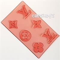 SET OF SIX ELEMENTS LV 3*3 CM EACH - IN ONE SURFACE