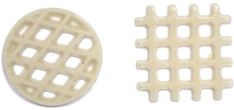 קישוט שוקולד רשת מרובע/עגול לבן פרווה 288 יח'