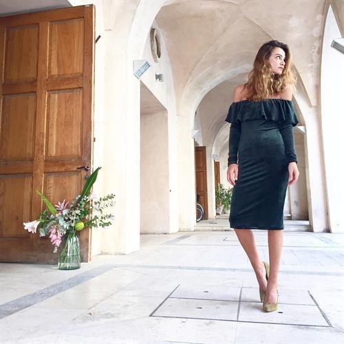 שמלת סלסה ירוקה