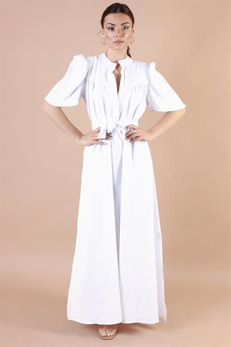שמלת לילוש לבן/אדום/כאמל