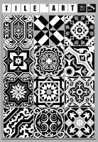 מדבקות לאריחים 10*10 ס''מ שחור לבן דגם 1272