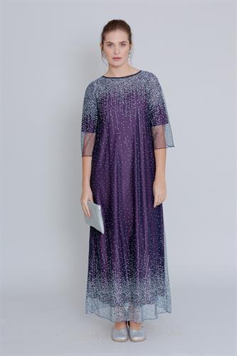 שמלת שלג מקסי סגולה
