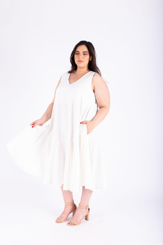 שמלת אנני לבנה