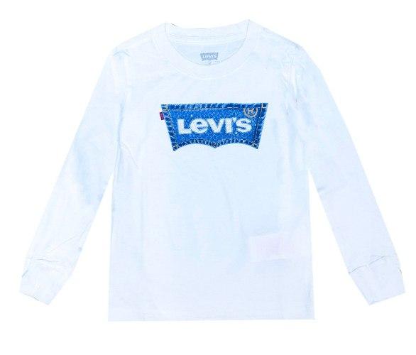 טי שירט LEVIS לבנה לוגו ג׳ינס - מידות שנה ועד 15 שנים