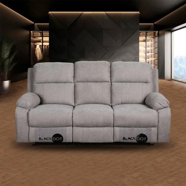 ספה 3 מושבים סיאסטה בד אפור