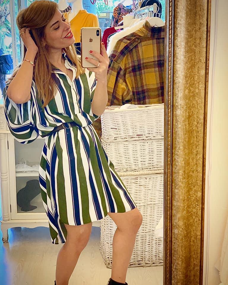 שמלת איימי  - פסים