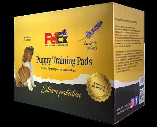פטקס פדים לחינוך גורים של כלבים אריזת חיסכון 100 יחידות