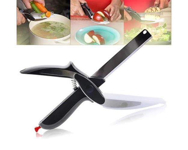 סכין מספריים עם קרש חיתוך – פטנט גאוני!