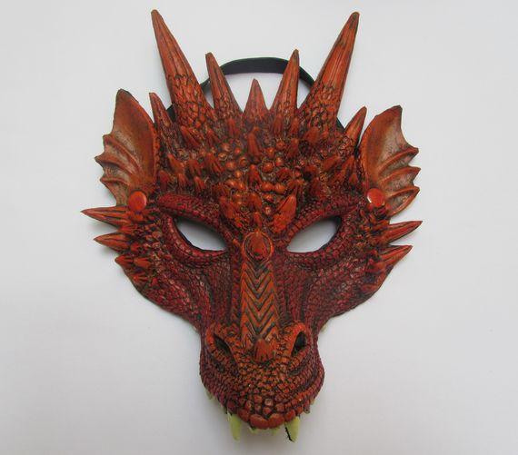 תחפושת דרקון משחקי הכס מסיכה אדומה