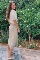 חצאית מעטפת חלקה