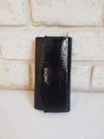 ארנק דמוי עור גדול שחור/מטאלי 4029