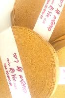 חוטי טריקו רחבים ופרוסים, חוטי טריקו פרוסים, חוטי טריקו לסריגה, חוטי טריקו צבע חרדל , מגוון צבעים של חוטי טריקו בחנות המפעל, חוטי טריקו ייצור ושיווק, חוט טריקו פרוס צבע חרדל