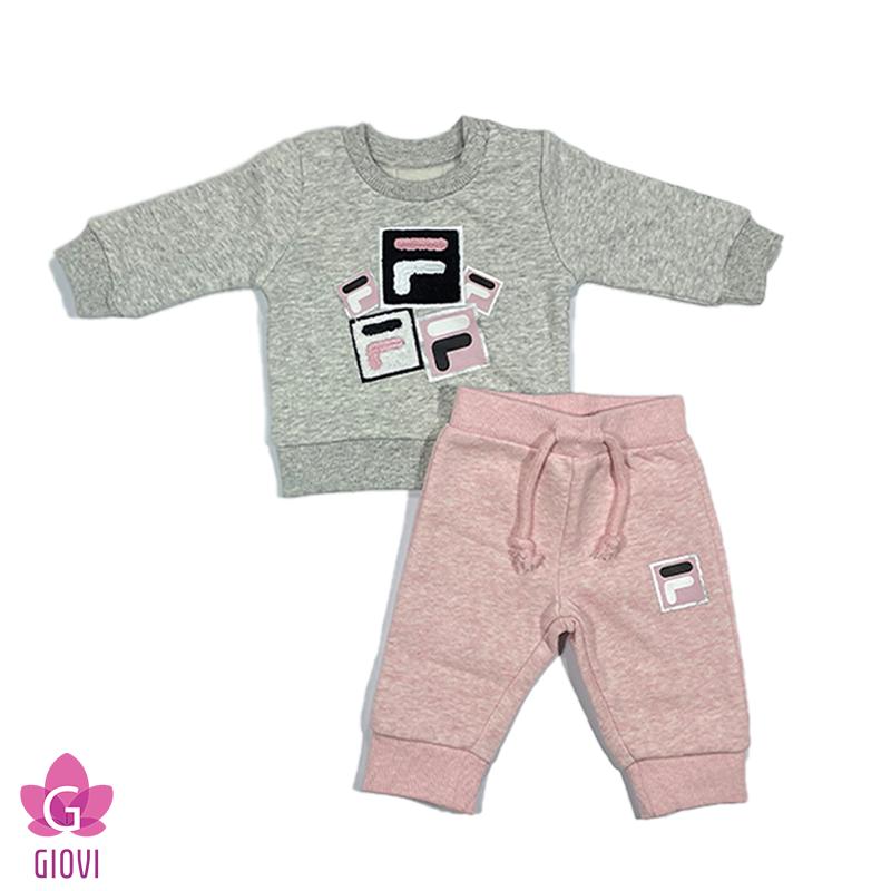 חליפת פוטר תינוקות דפוס ורודה