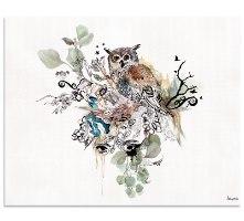 ציור של ינשוף צבעי מים