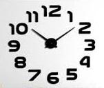שעון קיר אנלוגי להרכבה עצמית DIY