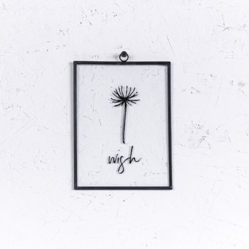 שלט זכוכית בינוני - WISH
