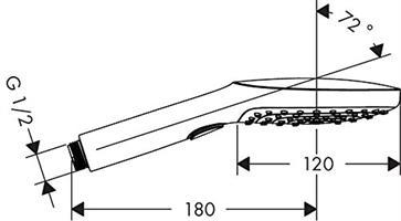 מזלף RAINDANCE דגם E120 בעל 3 מצבי זרימה דגם 26520000