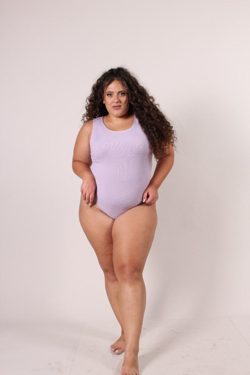 Bodysuit מרני סגול לילך
