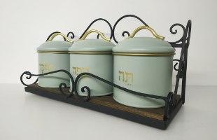 סט תה קפה סוכר - דגם תכלת יפה - דוגמא