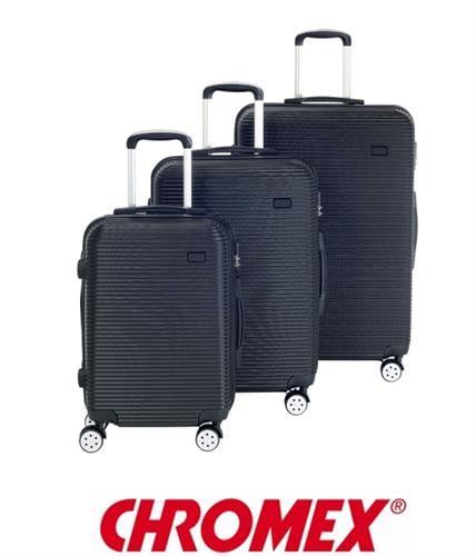 CHROMEX סט 3 מזוודות טרולי קשיחות דגם TR-013