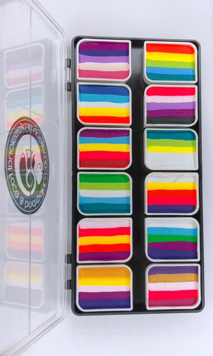 פלטות 12 קשתות  של חברת קמיליון Palettes 12 colorblocks Cameleon