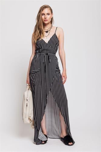 שמלת וילוואו שחור פסים