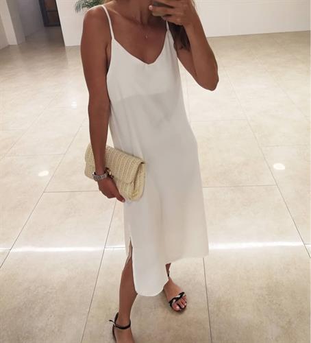 שמלת יוניק פריזאית - לבנה