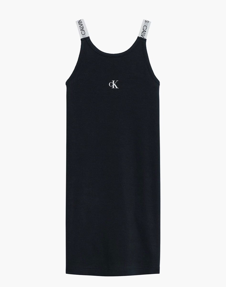 שמלה לוגו שחור CK מידות 4-16