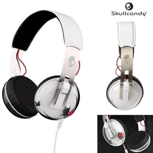 אוזניות קשת עם מיקרופון Skullcandy GRIND White/Black/Red