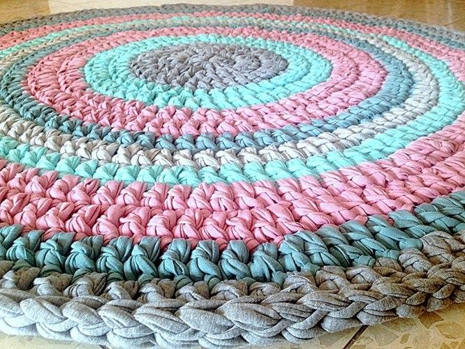 שטיח סרוג, שטיחים סרוגים, שטיחים לחדרי ילדים,שטיח בצבעי יוניסקס, שטיח יוניסקס לחדר ילדים משותף